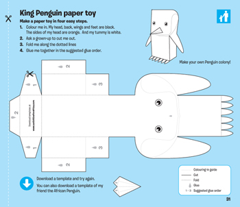 King Penguin Paper Toy